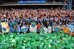 국제위러브유운동본부(장길자회장)2012 기후변화대응을 위한 전 세계 클린월드운동 // 국제위러브유운동본부(장길자회장)클린월드운동1600명 나서 경안천 환경정화활동 벌여