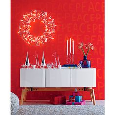 fill in the bland wire wreath in holiday | CB2