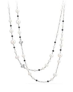 """Oceanica Beaded Link Necklace, 62"""" by David Yurman at Neiman Marcus."""