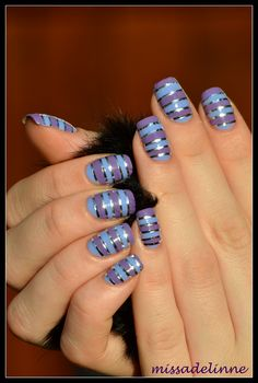 MissAdelinne: Step by Step: Lavender Stripes