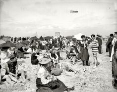 """Coney Island, New York, circa 1904. """"Getting their picture took."""" Click through to supersize and see in masses of detail."""