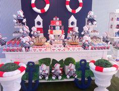 Festa Provençal: Marinheiro Navy Party, Nautical Party, Teddy Bear Birthday, Happy Birthday Jesus, Bear Party, Baby Shower Decorations For Boys, Boy Baptism, Boy Decor, Ideas Para Fiestas