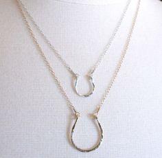 Double horse shoe necklace