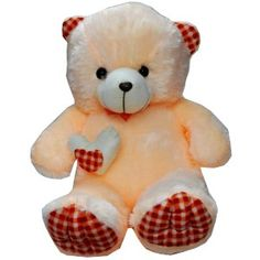 Tall Johny Teddy Bear gives a soft touch to your skin