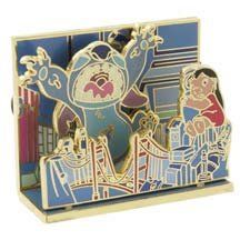 Stitch as movie monster with Lilo diorama pin from Fantasies Come True