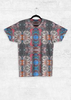 Unisex Tee - Full Print - Nubian Dream in Rainbow by VIDA Original Artist Signature Design, Fashion Labels, Everyday Look, Night Out, Dress Up, Men Casual, Leather Jacket, Unisex, Tees