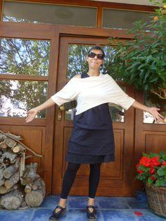 Baukasten – Reisekleid! Ein Kleid das aus mehreren Lagen besteht und alle Wetterumschwünge mitmicht. Praktische Reisekleidung, Nähen, DIY, Sewing, Travel, Layering, Fashion, dress, skirt, look!