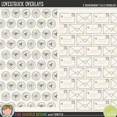 Quality DigiScrap Freebies: Lovestruck paper overlays freebie from Kate Hadfield Designs