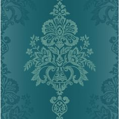 I love this wallpaper - think it would be a beautiful feature wall in a neutral lounge Unusual Wallpaper, Teal Wallpaper, Colorful Wallpaper, Pattern Wallpaper, Teal Background, Background Patterns, Gothic, Chic Antique, Elegant Chic