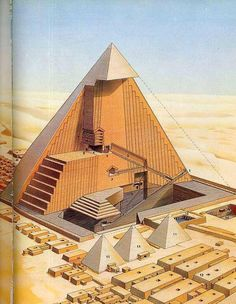 (2) Twitter Cross section of the Khufu pyramid, Egypt