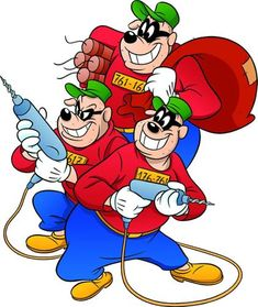 This is a disambiguation page for Beagle Boys; you may be looking for: Beagle Boys Beagle Boys Disney Kunst, Arte Disney, Disney Mickey, Disney Art, Disney Pixar, Beagle, Dagobert Duck, Old School Cartoons, Disney Wiki
