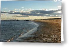 932 D948 Salisbury Beach Greeting Card by ROBIN LEE MCCARTHY PHOTOGRAPHY