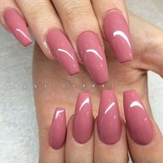 Simplicity is beauty, they said. This pinky pink… Pinky pink Glossy Coffin Nails. Simplicity is beauty, they said. This pinky pink glossy coffin nails is the best example of this saying. Colorful Nail Designs, Cute Nail Designs, Cute Nails, Pretty Nails, Classy Nails, Hair And Nails, My Nails, Coral Nails, Dusty Pink Nails