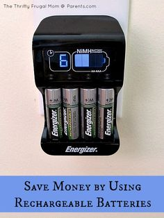 Save money with rechargeable batteries.it's easy and it reduces waste too! Waste Reduction, Green Living Tips, Green Ideas, Reduce Waste, Green Life, Budgeting Tips, Ways To Save Money, Sustainable Living, Things To Know