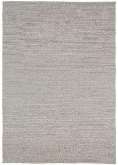 Freya Silver Herringbone Braided Wool Rug
