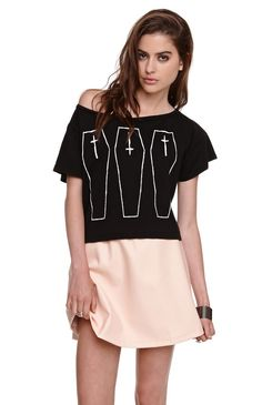 Hips and Hair Coffin Cropped Tee $28.00