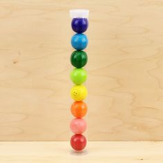 Clear Plastic Gumball Tube, $1.25 each  {Kara's Party Ideas Shop}