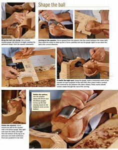 # 1277 Escultura de Bola e Pé de Garra - Pernas de Móveis Construção Escultura de Madeira