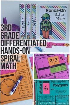 3rd grade spiral mat