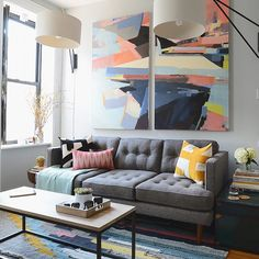 And now the big reveal… @mrorlandosoria and @homepolish did the most amazing job at transforming my living room into a space I actually love. Which West Elm piece is your favorite so far? @justinliv #Justinsnewroom #WEsmallspace