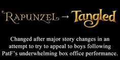 Disney/Pixar's name changes. I actually like Tangled better.