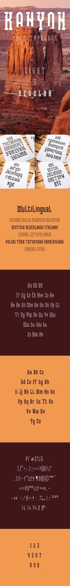 Kanyon-Free-Typeface