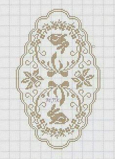 Filet Crochet, Crochet Chart, Crochet Stitches, Cross Stitching, Cross Stitch Embroidery, Embroidery Patterns, Crochet Tablecloth, Crochet Doilies, Cross Stitch Charts