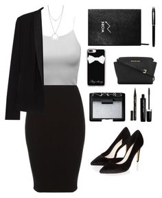"""Work Outfit"" by mutzrahc ❤ liked on Polyvore featuring American Vintage, NARS Cosmetics, Botkier, Casetify, Smith & Cult, Marc Jacobs, MICHAEL Michael Kors, Monsoon, Cross and Sloane Stationery"