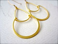 serena earrings - silver and gold loops and hoops, simple, everyday, handmade jewelry, wedding jewelry, E03