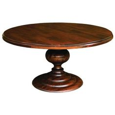 duncan phyfe pedestal for round dining room tables, salvaged pedestal round tables, pedestal dining room table, casual round pedestal dining table Round Wooden Dining Table, Dining Table With Leaf, Round Wood Coffee Table, Dining Room Table, Kitchen Tables, Table Bases, Round Tables, Kitchen Nook, Wood Table