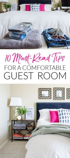 Ready to be an overnight host? Read this first to make sure your guests are comfortable in your guest room! The tips are all free or affordable, but will make a big difference!