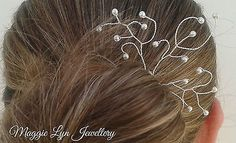 #Bridal pearl hair accessory jewellery. wedding prom bride pin #slide #swarovski ,  View more on the LINK: http://www.zeppy.io/product/gb/2/332027514273/