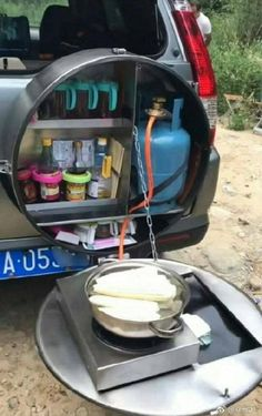 Ideas Truck Camping Ideas Motorhome For 2019 Camping Car Van, Truck Camping, Camping Hacks, Camping Trailers, Camping Essentials, Camping Table, Camping Stove, Camping Activities, Outdoor Camping