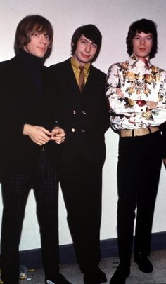 Brian Jones, Charlie Watts and Mick Jagger of The Rolling Stones
