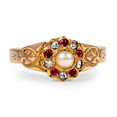 14K Rose Gold The Temira Ring, top view