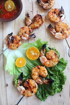 Lemongrass and Sriracha Grilled Shrimp.