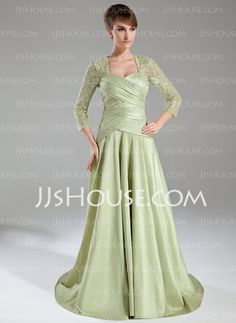 Mother of the Bride Dresses - $146.99 - A-Line/Princess Sweetheart Sweep Train Taffeta Lace Mother of the Bride Dress With Ruffle (008005950) http://jjshouse.com/A-Line-Princess-Sweetheart-Sweep-Train-Taffeta-Lace-Mother-Of-The-Bride-Dress-With-Ruffle-008005950-g5950