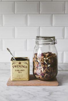 earl grey tea granola / baking magique