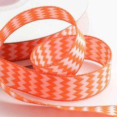 Orange Chevron Ribbon  15mm x10m - 7.90 CHF