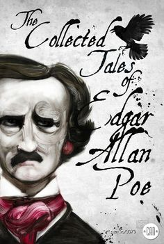 """Deep into that darkness peering, long I stood there wondering, fearing, Doubting, dreaming dreams no mortals ever dared to dream before."" Portrait of Edgar Allen Poe and his iconic familiar. Copyright Adam S Doyle"
