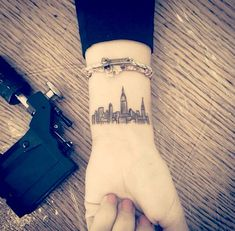 New York City skyline tattoo ✌️ Would love this, but it would have to be on my ankle out of view of patients
