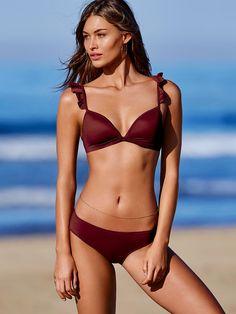 Ruffle Strap Triangle Top - PINK - Victoria's Secret
