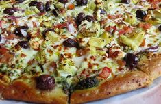 Pizza Mediterranea Thermomix - TM31 - TM5. Una receta perfecta para cenar con masa casera y unos ingredientes naturales. Una Pizza Thermomix deliciosa Calzone, Pizza Carbonara, Pizza Barbacoa, Vegetable Pizza, Vegetables, Food, Mediterranean Pizza, Pizza Recipes, Pizza