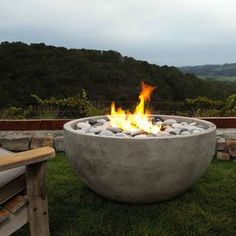 Fire bowls on pinterest portable fire pits stone for Eldorado stone fire bowl