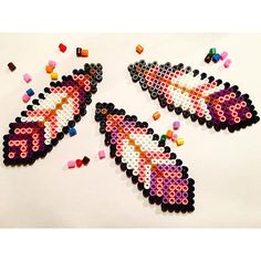 Feathers hama beads by diysweden