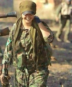 YPJ-Rojava-Kurdistan-Freedom Fighter and smile Soldier Love, Female Soldier, Real Women, Amazing Women, Memorial Day, King Cage, Idf Women, Veterans Day Gifts, Without Dress