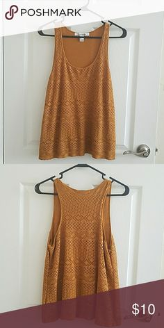 Forever 21 tank Mustard colored tank top. NWOT. Perfect condition. Forever 21 Tops Tank Tops