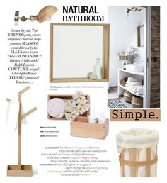 """Neutral Bathroom"" by cruzeirodotejo ❤ liked on Polyvore featuring interior, interiors, interior design, home, home decor, interior decorating, .wireworks, CO and bathroom"