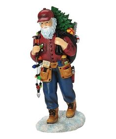"""Handyman Santa Figurine- Product Details There's more work to be done at the North Pole than just toy making, and Santa has donned his tool belt to tackle all the projects on his """"honey do"""" list. Snowman Kit, Snowman Ornaments, Old World Christmas, Christmas Crafts, 90th Birthday Decorations, Gold Number Balloons, Santa Figurines, Easter Season, Mrs Claus"""