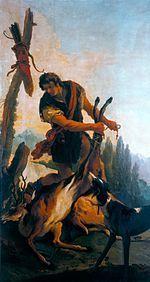 Tiepolo Giambattista, Cacciatore con cervo.jpg